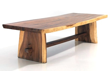 suar slab wood dining tables