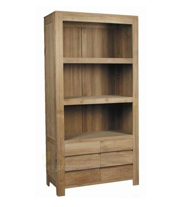 teak bookcase 6 drawers - Teak Bookshelves