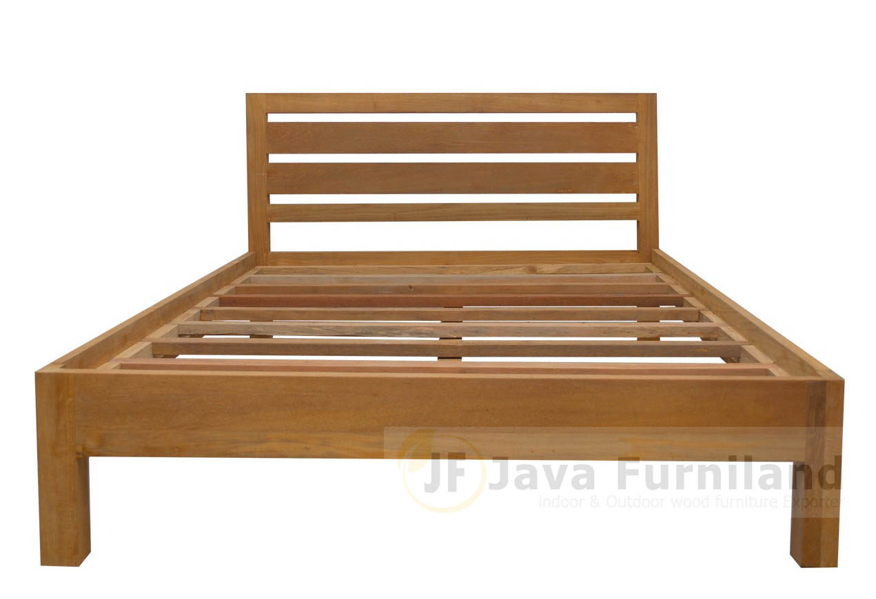 TEAK BED SIMPLE UBUD. Teak indoor furniture   Solid teak bedroom furniture   Indonesia