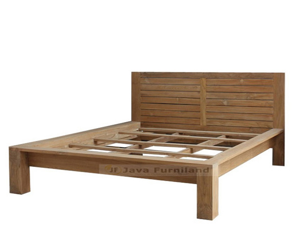 JFB 002   TEAK BED MINIMALIST MEDAN. Teak indoor furniture   Solid teak bedroom furniture   Indonesia