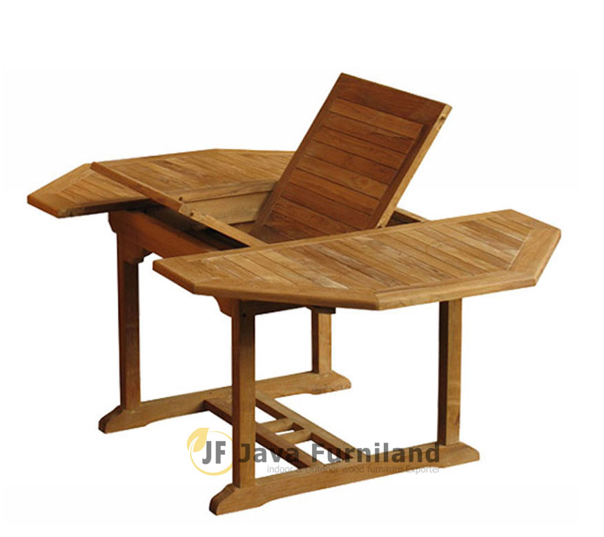 Jepara Furniture Octagonal Extending Dining Table Solid Teak Wood