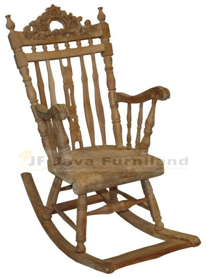 Hand Carving Rocking Chairs Teak Wood Furniture Indonesia Company