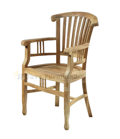TEAK BATAVIA BANTENG ARM CHAIR