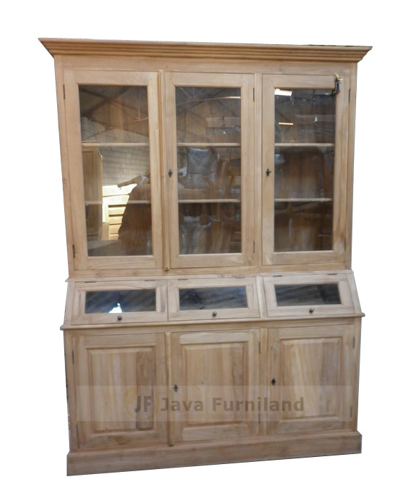 Wooden Bookcase Display Cabinet With