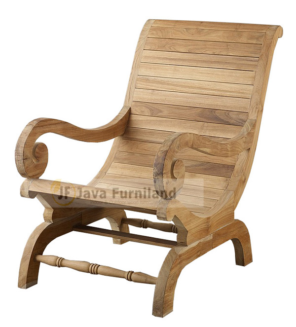 TEAK LAZY CHAIR TANGAN GELUNG