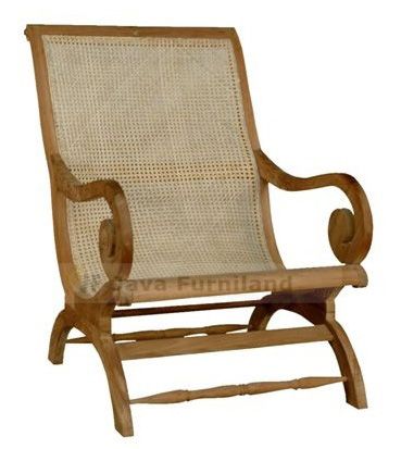 Contemporary furniture lazy chairs teak wood with rattan wicker