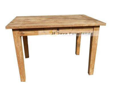 TEAK DINING TABLE 2 DRAWERS