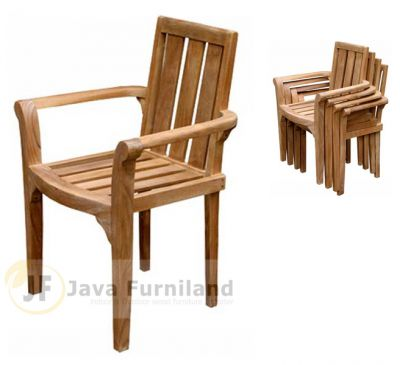 TEAK GARDEN CLASSIC STACKING CHAIRS