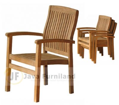 TEAK GARDEN DAVID STACKING CHAIRS