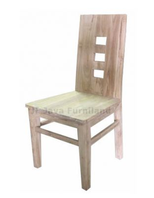 TEAK BLOK DINING CHAIR