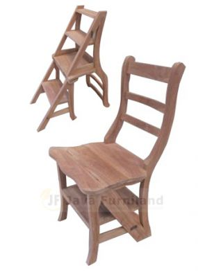 TEAK STEP LIBRARY CHAIR LENGKUNG