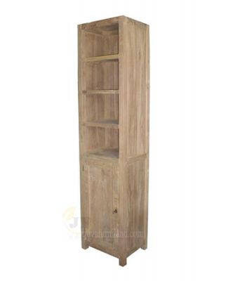 Teak Bookcase Storage 1 Door