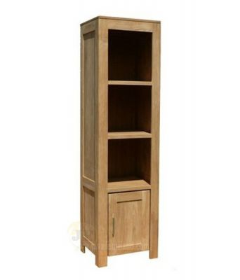 Teak Bookcase Shelves Door