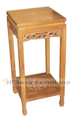 TEAK CONSOLE TABLE WITH CARVING