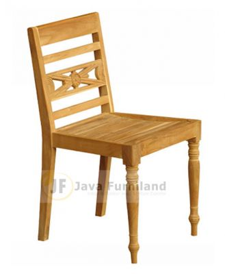 TEAK RAFFLES DINING ARM CHAIRS