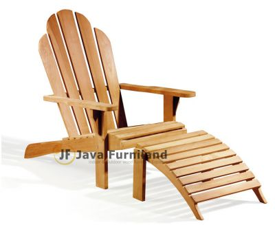 Adirondack Chair with Footstool
