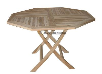 Classic Octagonal Folding Table 120