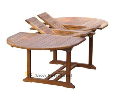 Oval Double Extending Table 180-300