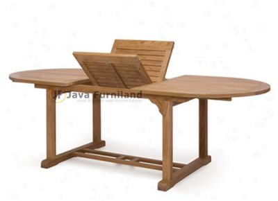 Oval Rectangular Extending Table 180-240*120