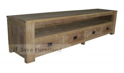 CONSOLE TV STAND 4 DRAWERS