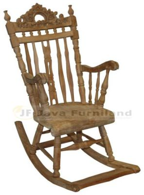 TEAK KERANG CARVED ROCKING CHAIR