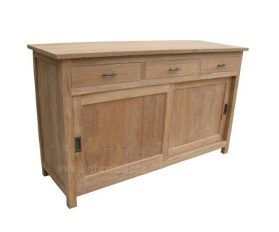 Teak Sideboard 2 Sliding doors and 3 Drawers