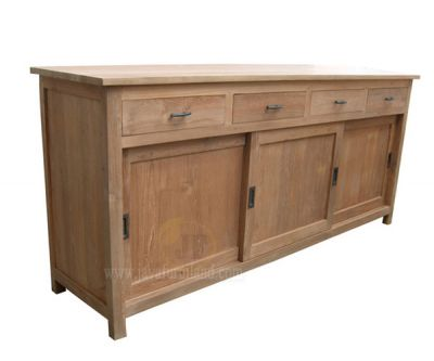 Teak Sideboard 3 Sliding doors and 3 Drawers