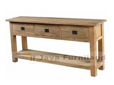 CONSOLE TABLE 3 DRAWERS WITH SHELF