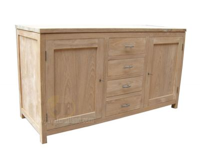 Teak Sideboard 4 Drawers 2 Doors