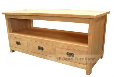TV TABLE STAND 3 DRAWERS