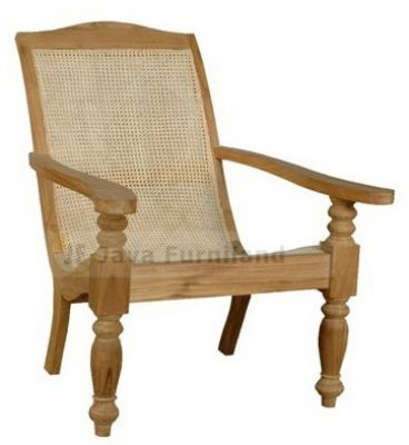TEAK RATTAN LAZY CLASSIC CHAIR