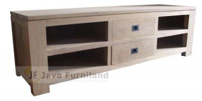 CONSOLE TV STAND 2 DRAWERS
